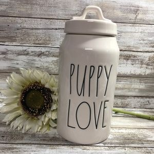 New Rae Dunn Puppy Love Treat Canister